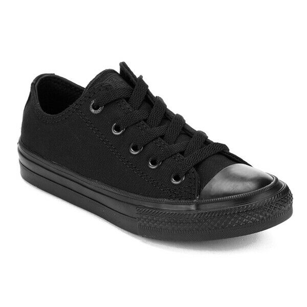 Converse Chuck Taylor Star Black Mono Ox Top Mens Womens Skate Shoes Sizes