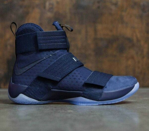 Mens  Nike Lebron Soldier 10 X SFG Sneakers New, Midnight Blue 844378-444 11.5