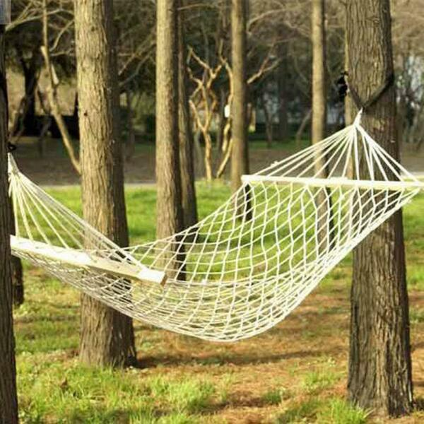 Double Hammock Tree Person Patio Bed Swing New Cotton Rope Outdoor Garden $19.49