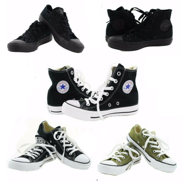 Converse Chucks All Star Chuck Taylor Canvas Casual Fashion Low / High Top Shoes