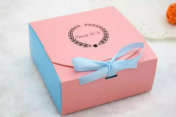 Bakery Boxes for Cupcake Cookie Party Gift Pink amp; blue pack of 12