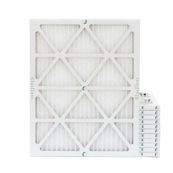 16x20x1 MERV 10 Pleated Air Filters. 12 PACK. Actual Size: 15-12 x 19-12 x 78
