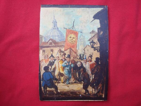 Rare ? small Oil on Board Hunchback of Notre Dame signed listed artist ?