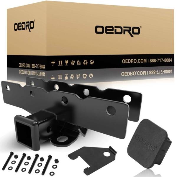 OEDRO 2quot; Textured Trailer Hitch Receiver for 2018 2021 Jeep Wrangler JL JLU $47.99