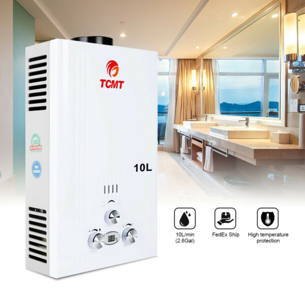 10L Tankless Hot Water Heater Propane Gas LPG Instant On Demand Wholse Family