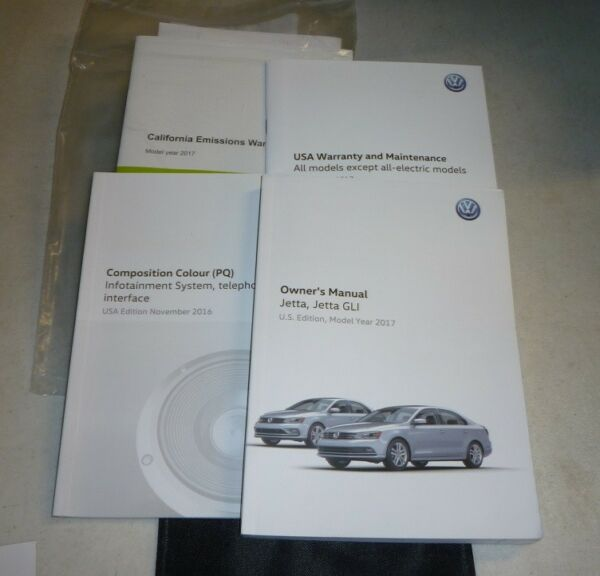 2017 VW JETTA OWNERS MANUAL SET 17 wcase  S SE SEL GLI + INFOTAINMENT GUIDE