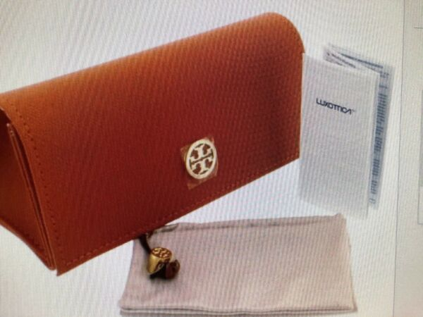 LK!  NEW Tory Burch Sunglasses or Eyeglasses Soft Case Magnetic Snap Orange