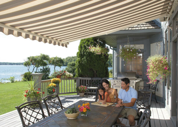 SunSetter Motorized Retractable Awning 14 ft. XL Acrylic Fabric Deck