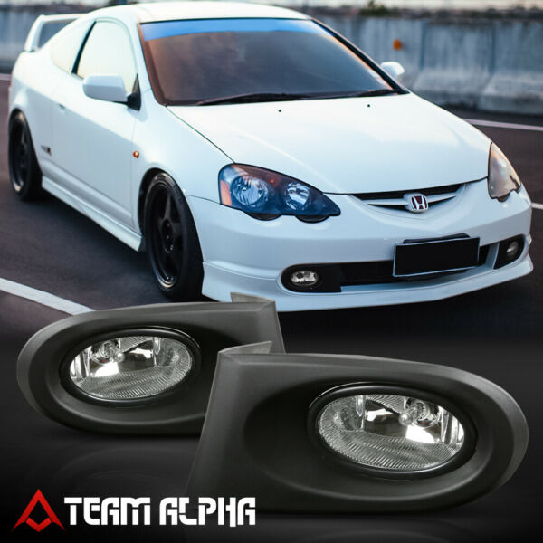 Fits 2002-2004 Acura RSX[Clear]Bumper Fog Light Lamp wSwitch+Harness Wire+Bezel