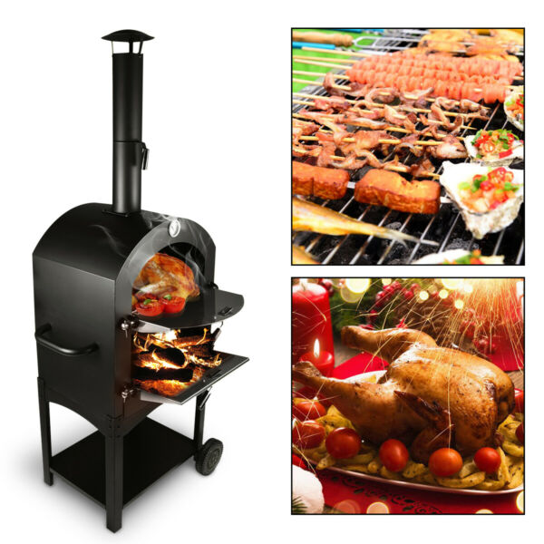 Outdoor Stainless Steel Pizza Oven Used Wood Fired Delicious Maker Pizza Cooker $193.55