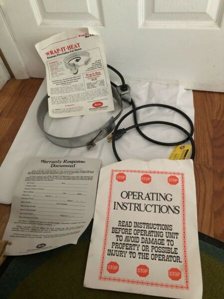 SAP Pail HeaterElectric5 gal.100WWrap-It-Heat  BEE-5R New