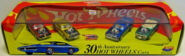 Hot Wheels 30th Anniversary 1970#x27;s Spoilers 4 Car Limited Edition Set NEW Rare $56.79