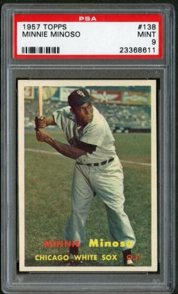 1957 Topps 138 Minnie Minoso White Sox PSA 9 23368611
