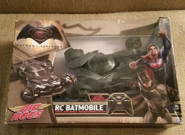 Air Hogs Batmobile Batman vs Superman Official Movie Replica Remote Control R/C