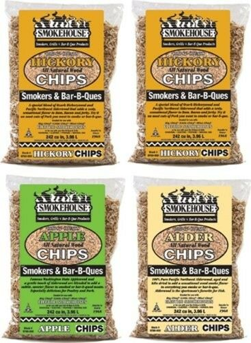 Smokehouse Assorted Wood Chips Hickory Apple Alder Smoker Chips BBQ Smoke