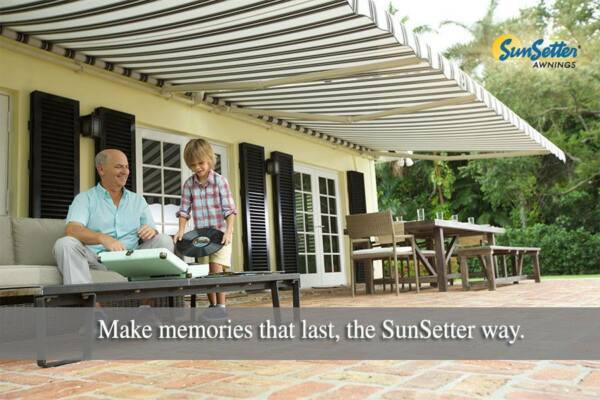 SunSetter Motorized Retractable Awning 17 ft. XL Model Deck & Patio Awnings