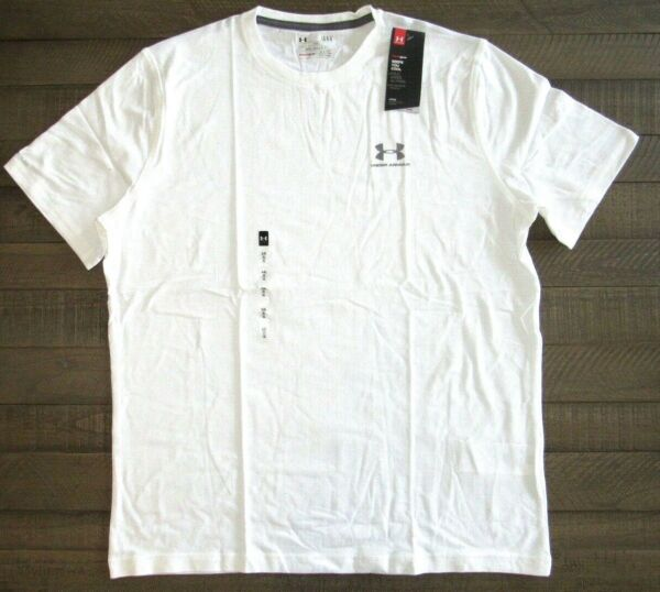 Under Armour Men#x27;s Charged Cotton Sportstyle Tee 1257616 White Small to 4xl $16.99