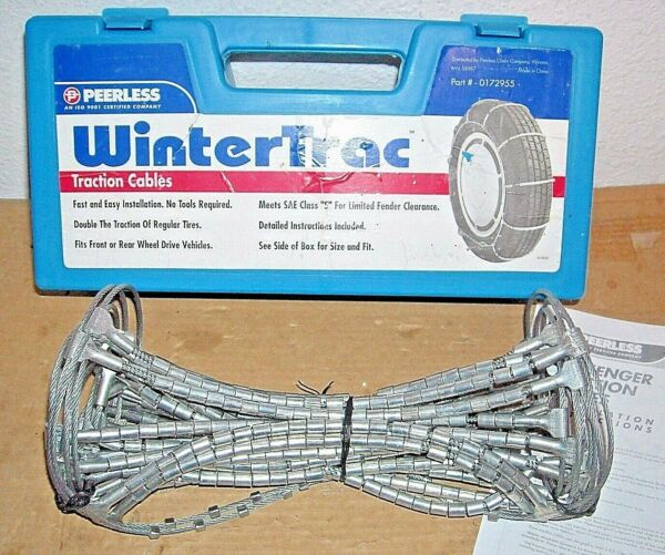 Peerless WinterTrac Traction Cable Tire Snow Chains Stock # 0172955 Never Used