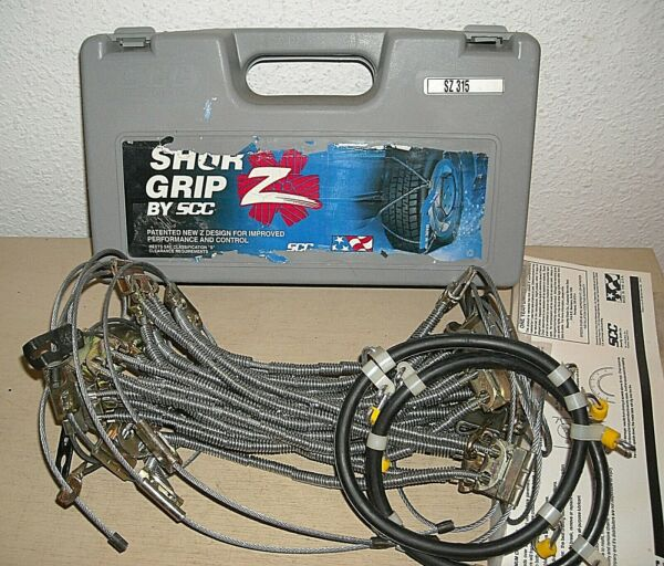 SHUR GRIP Z Cable Tire Snow Chains - Stock # SZ315 - Never Used - MADE IN USA