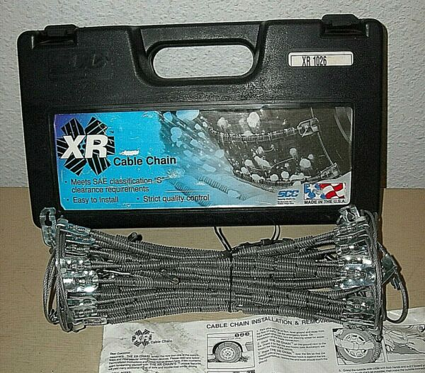 XR Cable Tire Snow Chains - Stock # XR1026 - Never Used - Made in USA