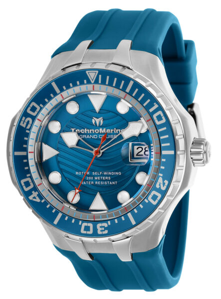 Technomarine TM-118079 NEW 2019 Grand Cruise Blue Reef ALL Blue Dial AUTOMATIC!
