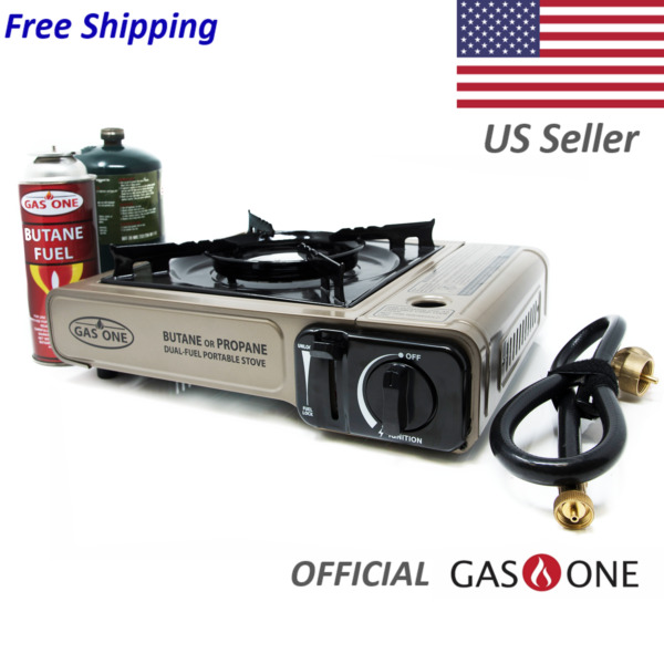 Portable Single Burner Dual Fuel Gas Stove for Butane and Propane Use *NEW