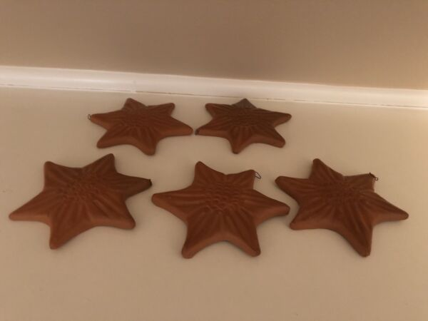 Holiday Decoration Clay Ceramic Stars 5 In All $14.99