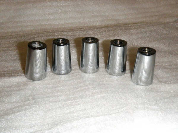 lt;lt; Lot of 5 gt;gt; New Chrome Beer Tap Handle Ferrules