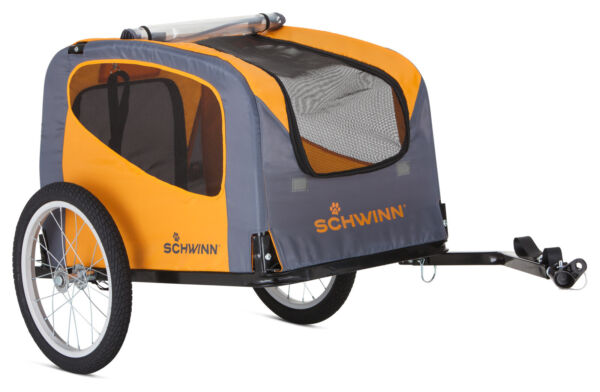 Schwinn Pet Dog Cat Trailer Bike Pull Behind Cart Wagon Stroller Orange Washable $156.20
