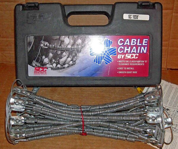 SCC Radial Cable Tire Snow Chains - SC1038 - Never Used - MADE IN USA