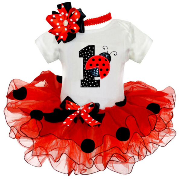 Baby Girl 1st Birthday Party Outfit Sets Gift Romper Tutu Princess Dress Clothes