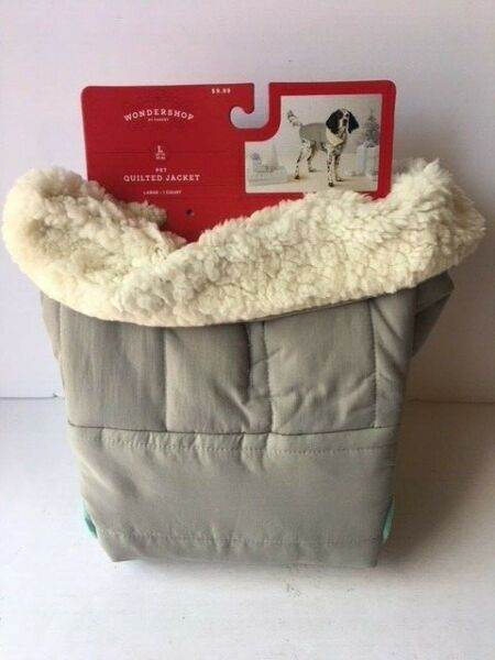 WONDERSHOP Gray Teal Quilted Jacket Dog Large $12.00