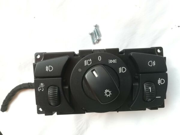 BMW E60 E61 Euro Automatic Headlight Switch Dual Fog Lights Rear OEM