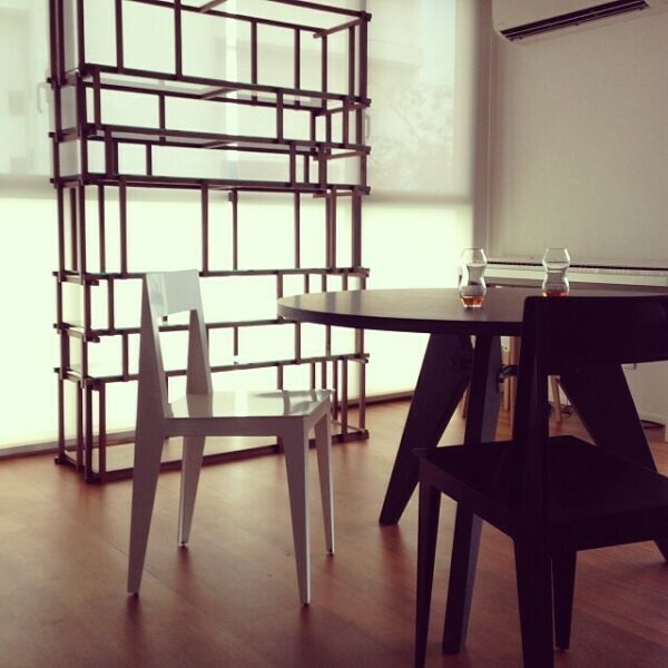Ligne Roset LA PLIEE Laser-Cut Steel Dining Chairs GLOSS WHITE (Set of 8 Chairs)