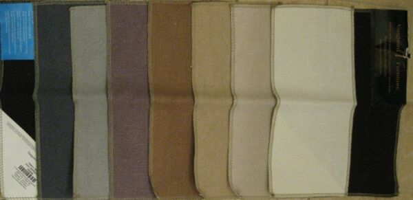 Vanguard Napa Linen Burlap Solid Designer Fabric Samples 8 pc Lot Quilt Doll