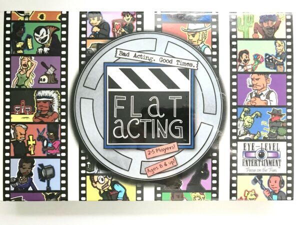 *New* FLAT ACTING Board Game Fun for Filmmakers Actors and Movie Buffs!