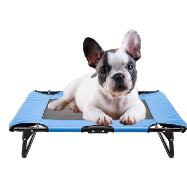 Elevated Pet Bed Puppy Dog Cot Hammock Folding Frame Ventilated Cooling Mesh Mat $23.99