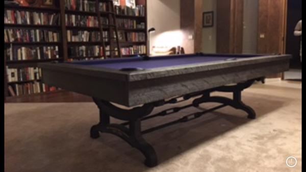 Gently Used 8ft Brunswick Birmingham Pool Table Rustic style with dining top