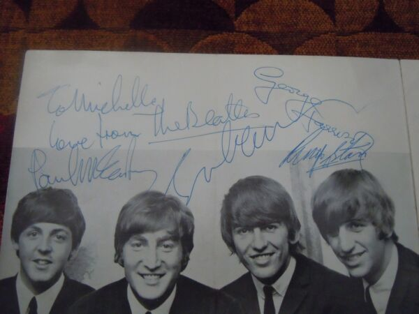 The Beatles Authentic Program Signed 100964 John Lennon's Birthday Autographs