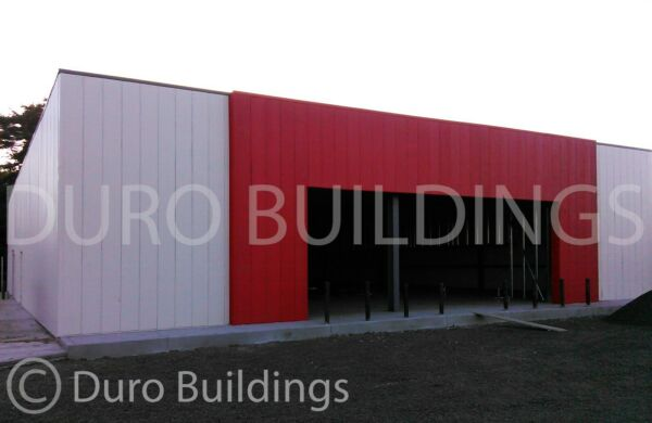 DuroBEAM Steel 100x100x16 Metal Building Airplane Hanger 66'x14' Opening DiRECT
