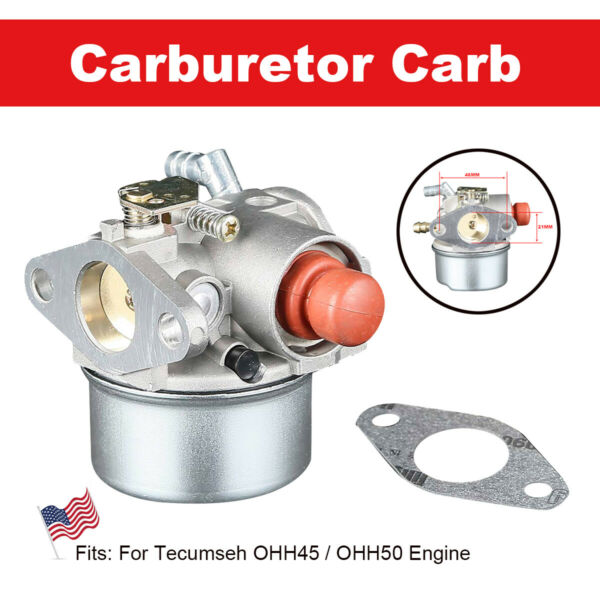Carburetor Fit For Tecumseh 640017B 640117 640117B 640104 OHH45 OHH50 5hp OHV $8.65