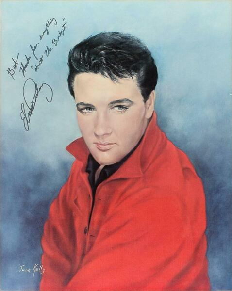 Elvis Presley Print Signed To Producer Of His Legendary '68 Comeback Special PSA