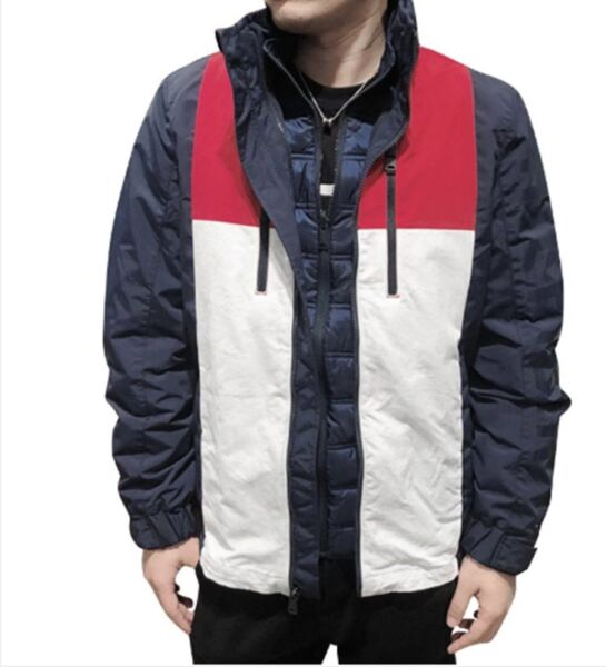 Tommy Hilfiger Tommy Men#x27;s 3 IN 1 jacket linerdetachable coat MULTI MEDIUM $195.00