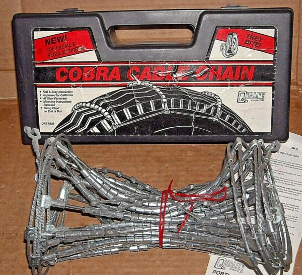 Cobra Cable Tire Snow Chains Stock #1026 Never Used