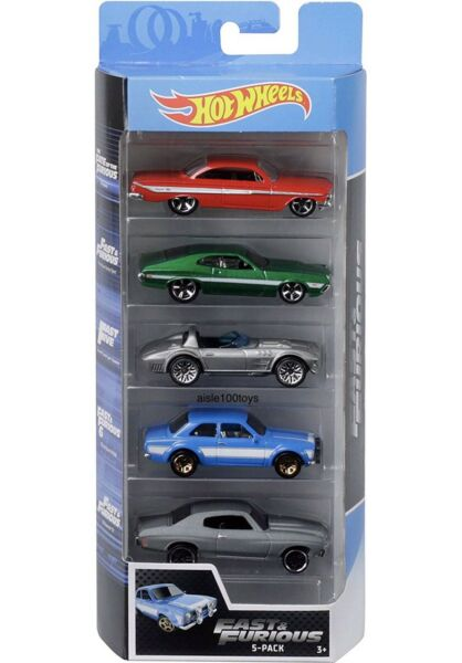 Hot Wheels Fast & Furious 5 Pack Set Movie ImpalaCorvetteEscortChevelle  2019
