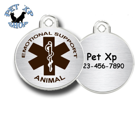 Esa Dog Tag Personalized Stainless Steel Emotional Support Animal Identity Tags $6.75