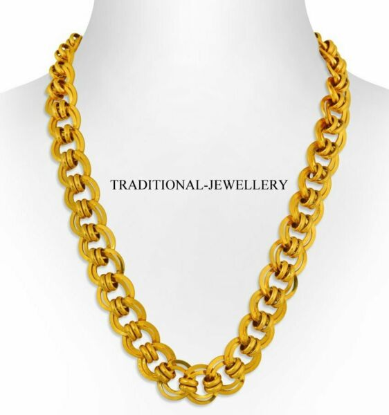 DUBAI 22K 20K YELLOW GOLD CHAIN MEN WOMEN UNISEX GOLD NECKLACE CHAIN SELECT SIZE