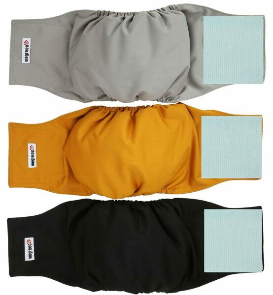 Washable Male Dog Belly Wrap Diapers Pack of 3 Small $15.08