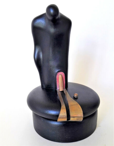 Exclusive Abstract Wooden Author's Sculpture Worldwide Delivery Handmade