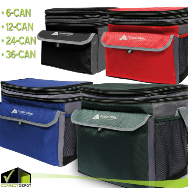 Ozark Trail Soft Sided Cooler Outdoor Camping Picnic ALL SIZES 6122436 CANS